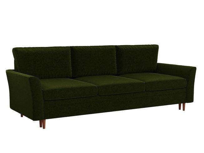 Диван-кровать София, зеленый/микровельвет фото