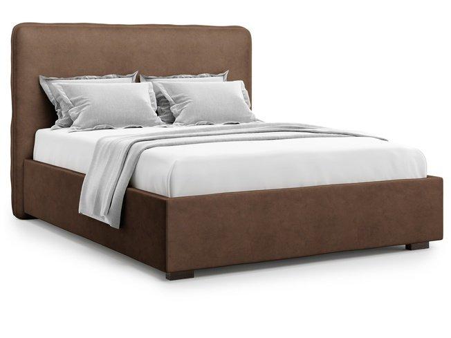 Кровать 1800 Brachano без подъемного механизма, шоколадный велюр velutto 23 фото