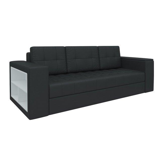 Диван-кровать Пазолини, черный/экокожа фото