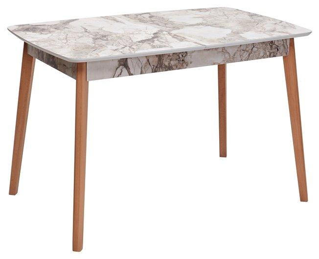 Стол обеденный раздвижной 29, WHITE MARBLE/белый мрамор фото