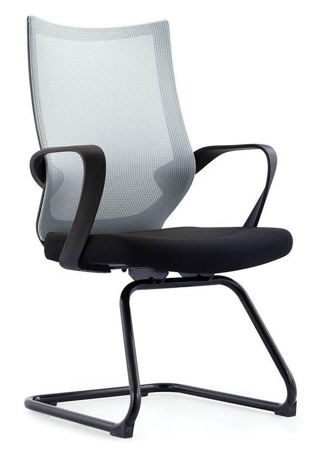 Кресло офисное Спэйс CF, черная краска/серая сетка/черная ткань фото