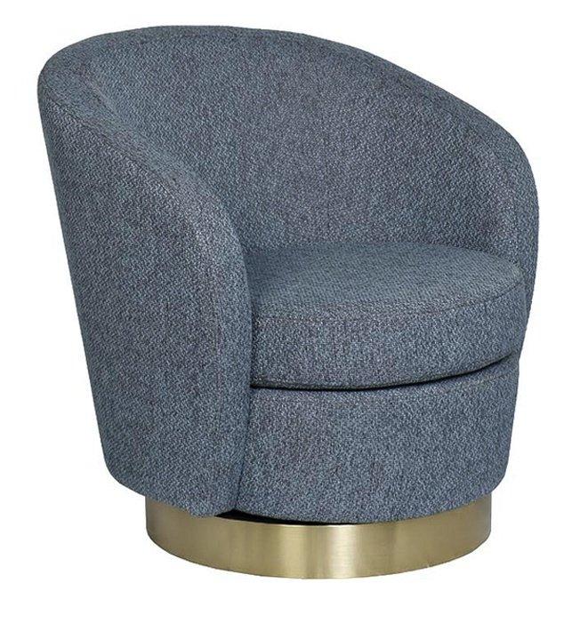 Кресло вращающееся серое (рогожка) 76AR-7384GOLD-GRB фото