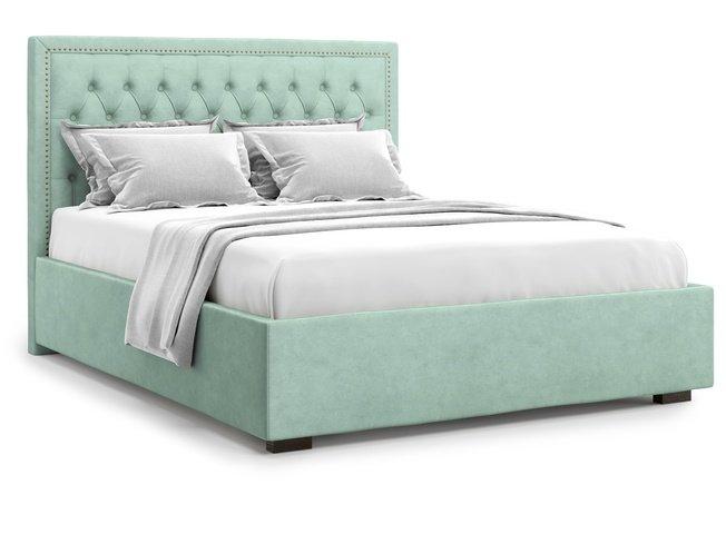 Кровать 1400 Orto с подъемным механизмом, ментоловый велюр velutto 14 фото