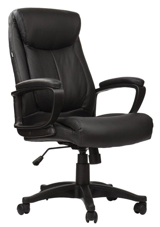 Кресло офисное Brabix Enter EX-511, экокожа черная фото