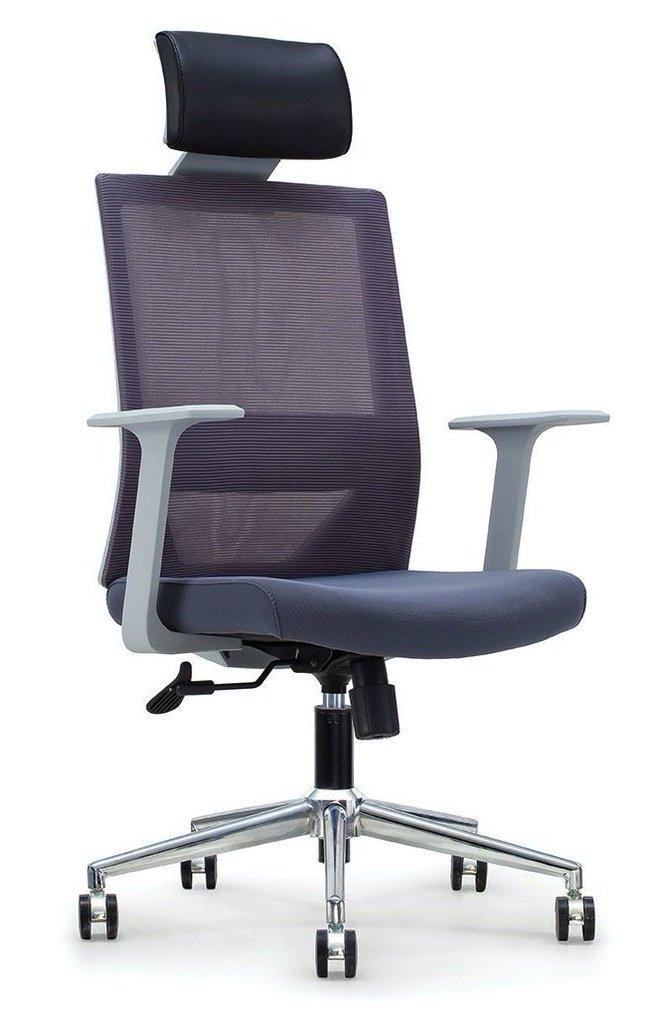 Кресло офисное Трэнд, gray серый пластик/серая сетка/серая ткань фото