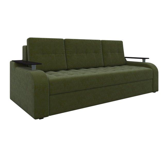Диван-кровать Ричард, зеленый/микровельвет фото