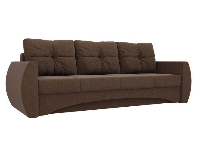 Диван-кровать Сатурн, коричневый/рогожка фото