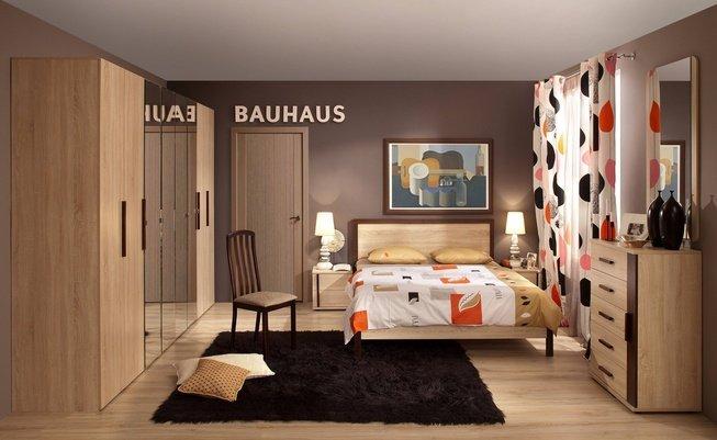 Комплект спальни Bauhaus, дуб сонома фото