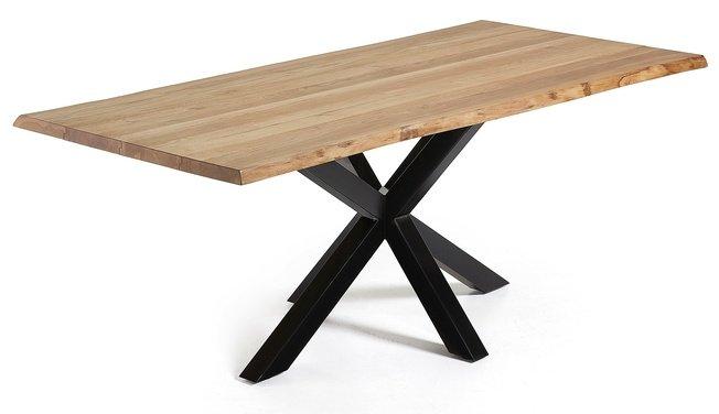 Стол обеденный Arya 220x100, черный каркас/натуральный дуб C796M40 фото