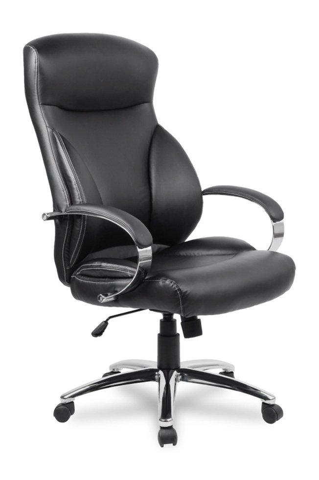 Кресло руководителя College H-9582L-1K, черное фото