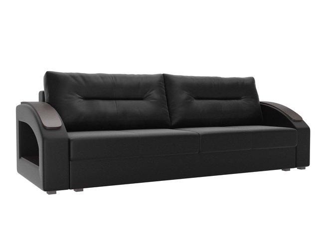 Диван-кровать Канзас, черный/экокожа фото