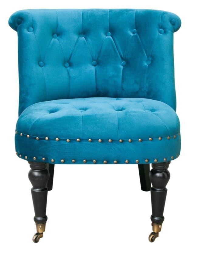 Кресло Aviana, blue velvet фото