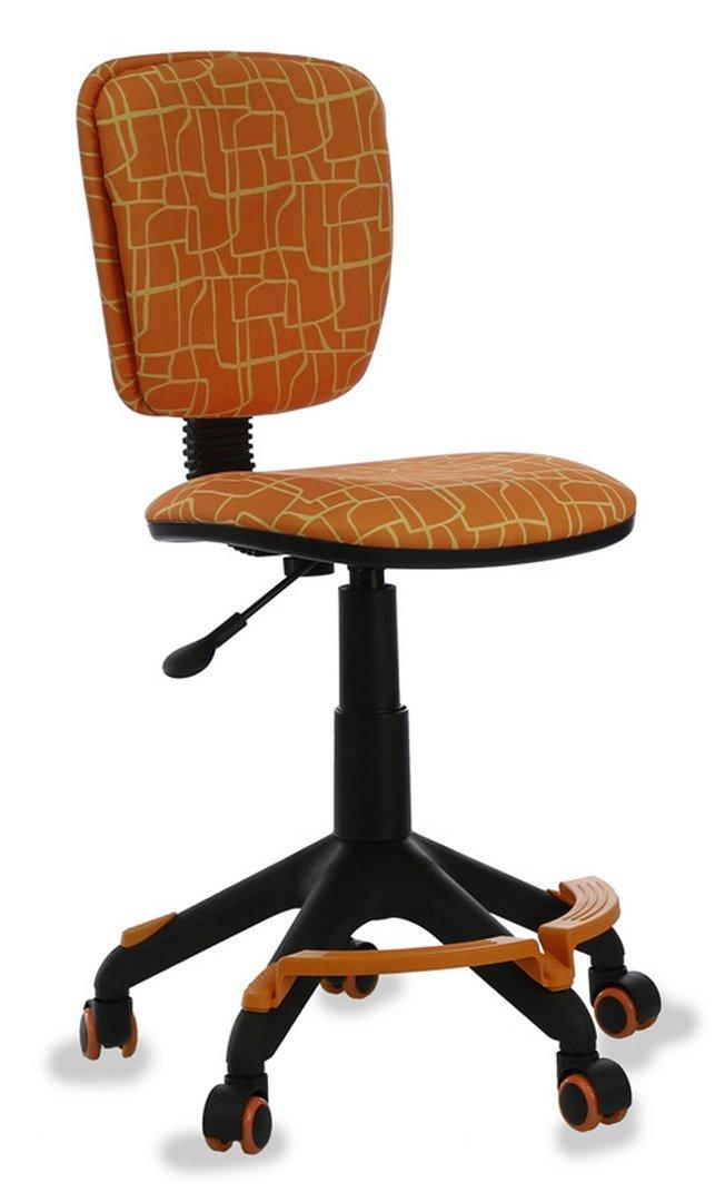 Кресло детское CH-204-F, оранжевая ткань фото