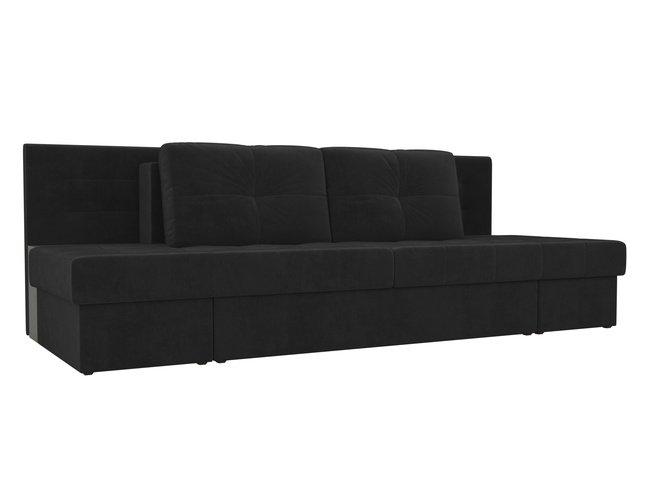 Диван-кровать трансформер Дублин, черный/велюр фото