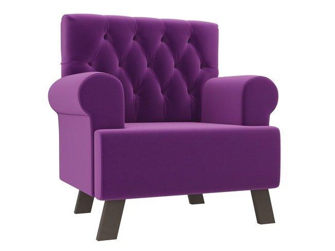 Кресло Хилтон, фиолетовое/микровельвет фото