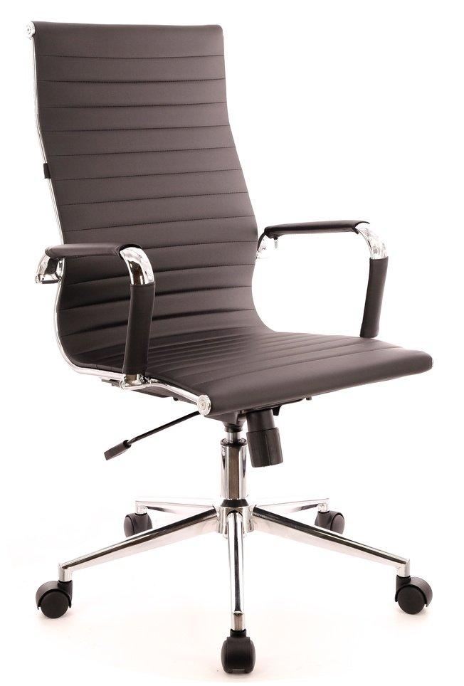 Кресло офисное Rio T, экокожа черная фото