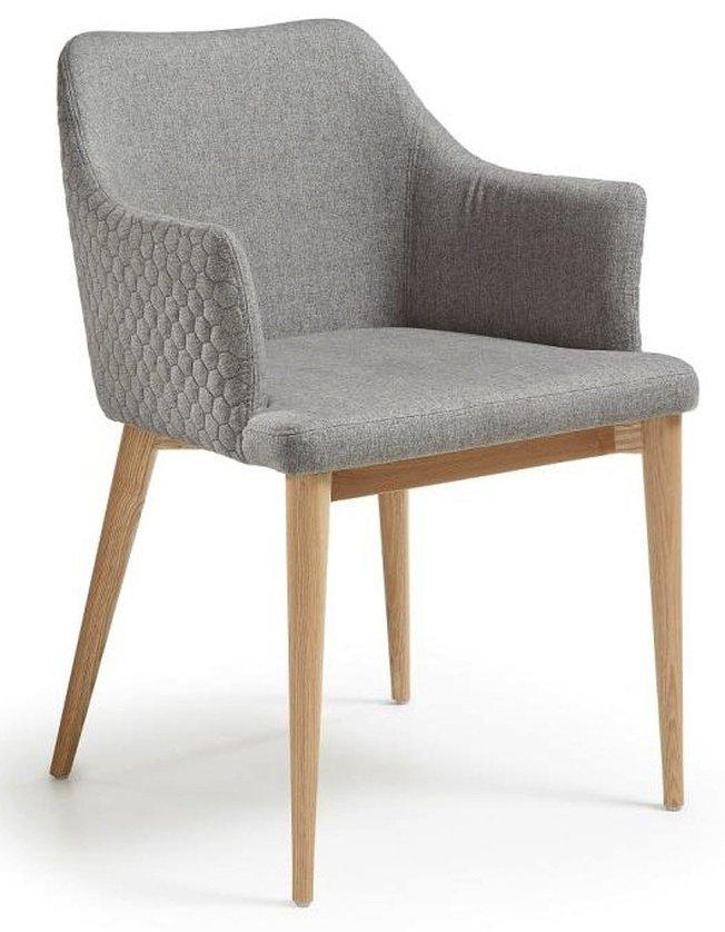 Стул-кресло Danai, серое тканевое фото