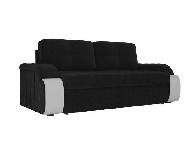 Диван-кровать Николь, черный/велюр фото