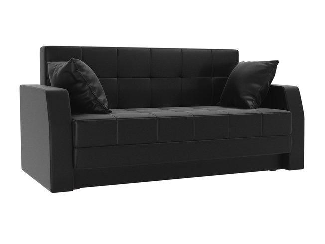 Диван-кровать Малютка, черный/экокожа фото
