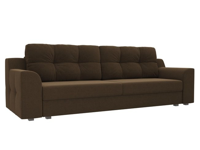 Диван-кровать Сансара, коричневый/микровельвет фото