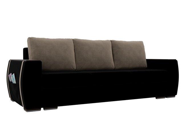 Диван-кровать Брион, черный/бежевый/велюр фото