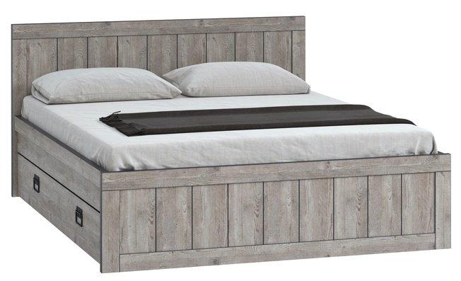 Кровать Эссен №3 1400 с 4 ящиками, боб пайн фото