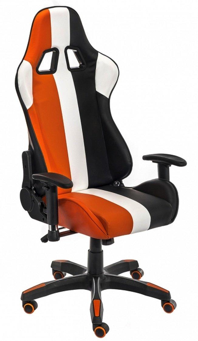 Компьютерное кресло line, белое/оранжевое/черное фото